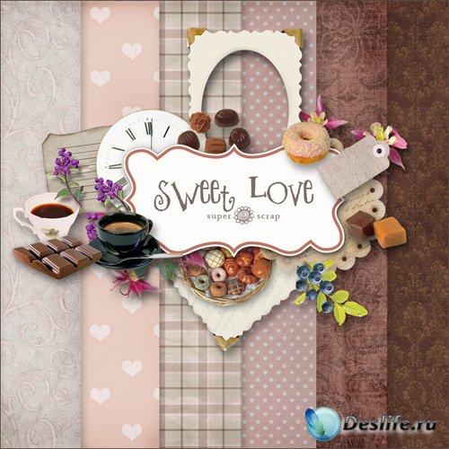 Скрап-набор - Сладкая Любовь