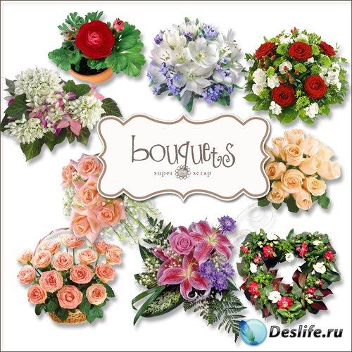 Скрап-набор - Колекция Букетов Цветов