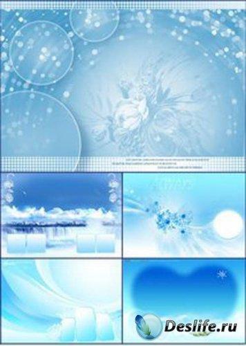 Пять романтических PSD исходников в голубых тонах