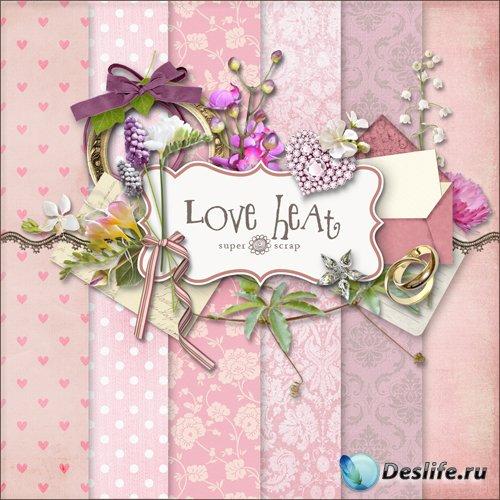 Скрап-набор - Горячая Любовь