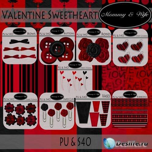 Скрап-набор - Милое Сердце Валентина