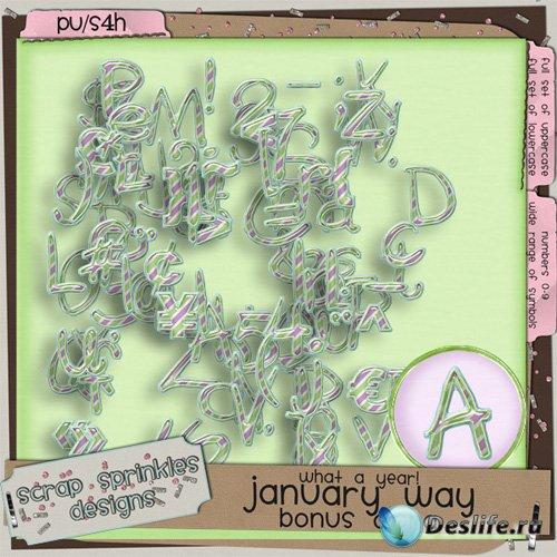 Скрап-набор - Праздничный Январьский Алфавит