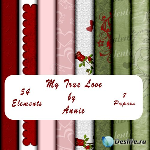 Скрап-набор - Моя истинная любовь