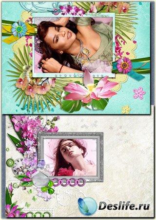 Две цветочные рамки для фотошопа