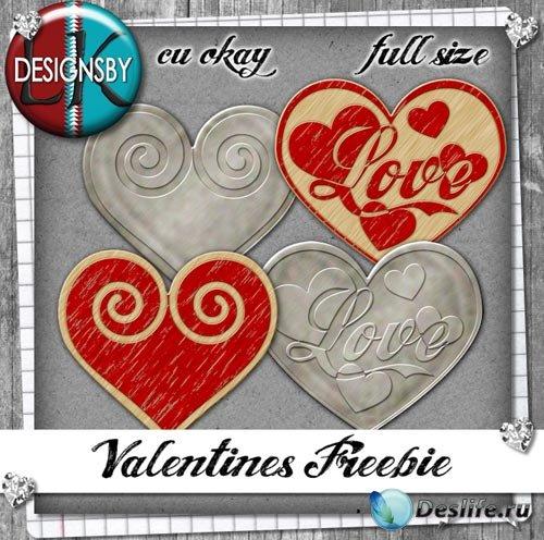 Скрап-набор - Сердца ко Дню Святого Валентина