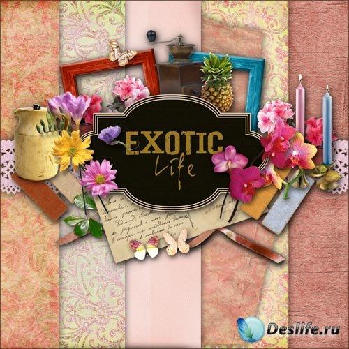 Скрап-набор - Экзотическая Жизнь