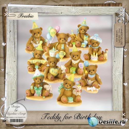 Скрап-набор - Праздничные Плюшевые Мишки