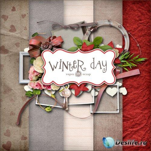 Скрап-набор - Зимний День