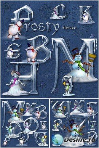 PSD-Исходник - Морозный алфавит