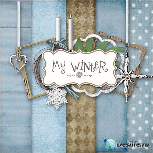 Скрап-набор - Моя Зима