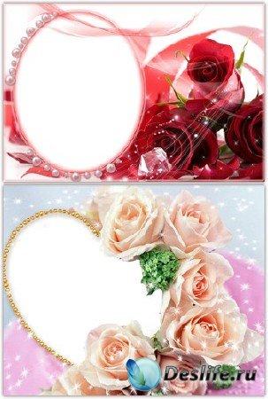 Рамки для фотошопа цветочные