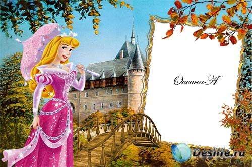 Рамка  для фотошоп  Принцесса средневекового замка