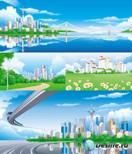 Города в векторе / City vector Collection