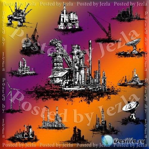 PNG Клипарт - Промышленные Здания