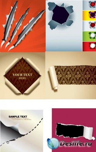Рваная бумага в векторе / Torn paper vector Collection