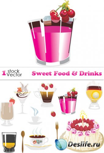 Sweet Food & Drinks Vector