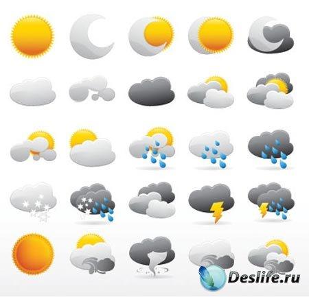 Иконки погоды в векторе / weather icon vector Collection