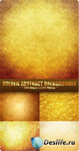 Текстуры для фотошопа - Золотые абстрактные фоны