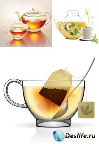 Чай в векторе / Tea vector Collection