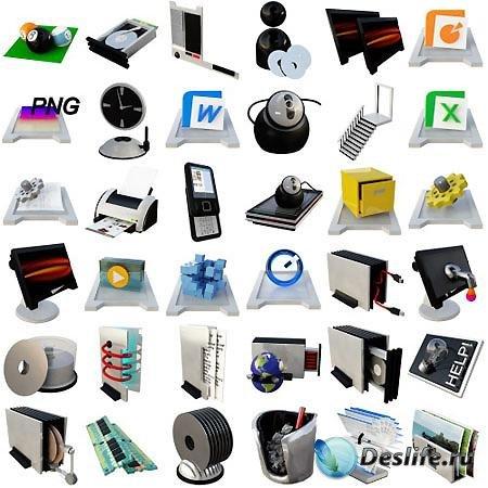 Коллекция иконок ICO и PNG