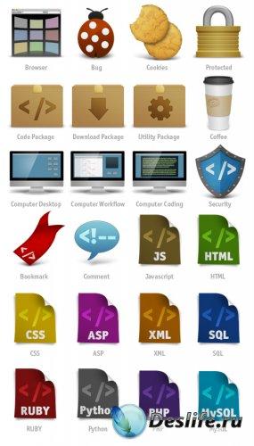 Набор иконок для веб-дизайнеров