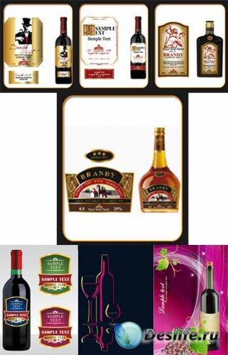 Бутылки в векторе / Bottle vector Collection
