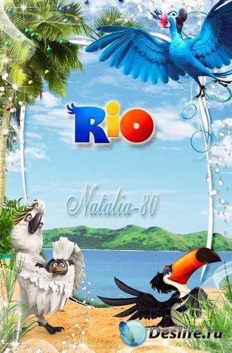 Рамочка для оформления детских фото с героями веселого м/ф Рио 3