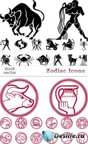 Векторный клипарт - Zodiac Icons