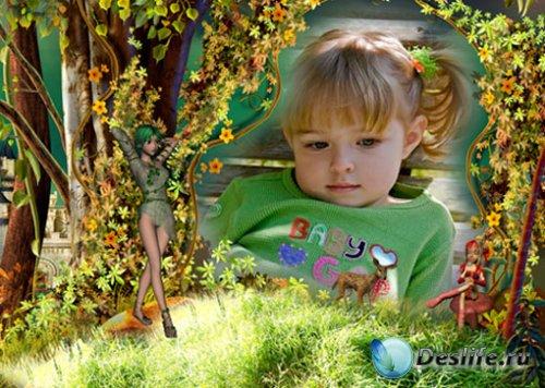 Детская рамка для фотошоп - Задумчивая пора