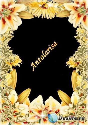 Рамка для фото - Желтые цветы