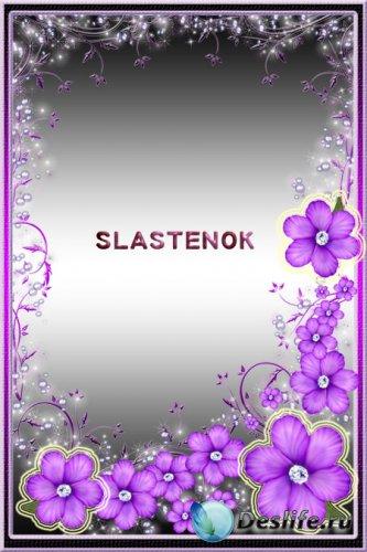 Рамка для фотошопа - Фиолетовая лазурь