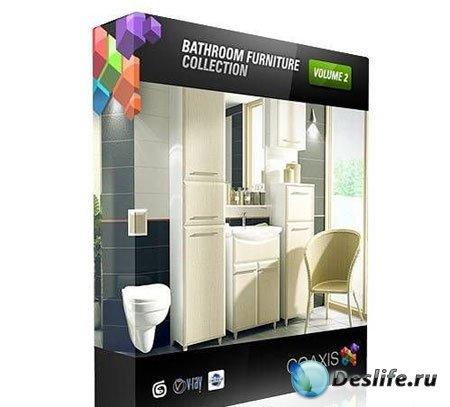 Ванные комнаты в 3D CGAxis 2 альбом / bathroom 3d model CGAxis vol.2
