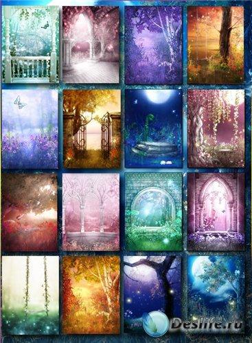 Фантастические, сказочные фоны для фотошоп