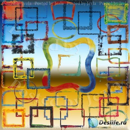 PSD Исходники - Акварельные Рамки (Watercolor Frame)