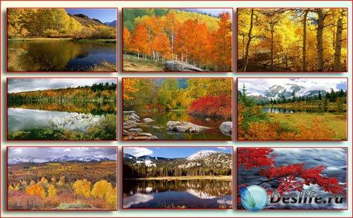 Широкоформатные обои - Осенний пейзаж