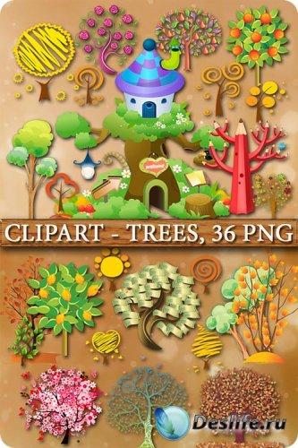 Клипарт - Деревья / Сlipart - Trees