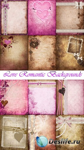 Романтические фоны с сердечками для фотошопа