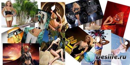 Красивые женские костюмы для фотошопа (150 шт)