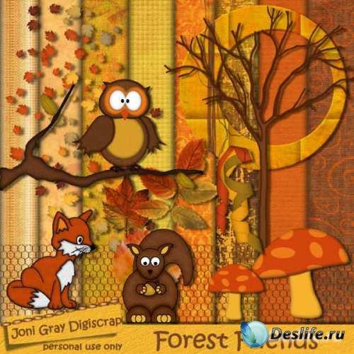 Скрап набор - Лесные друзья