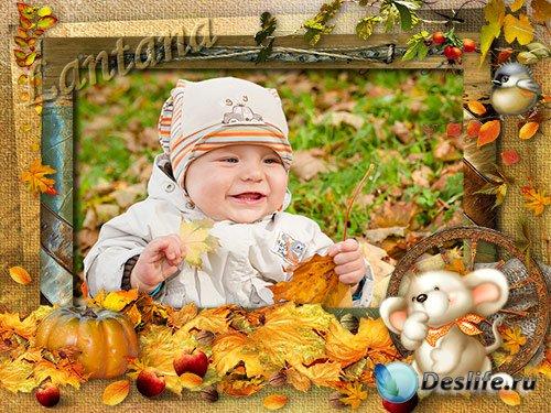 Детская рамка - Закружился надо мной дождь из листьев озорной