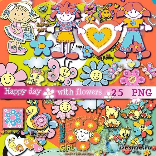Детский скрап набор - Цветочный праздник