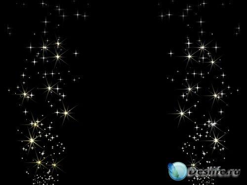 Футаж – Падающие звёзды