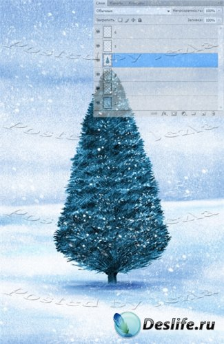 PSD Исходники - Новогодняя ёлка (Christmas Tree)