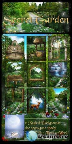 Фоны для фотошопа - Секретный сад