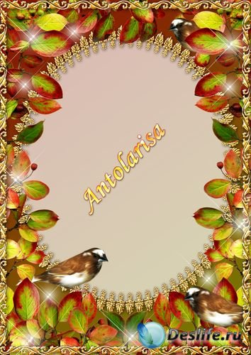 Осенняя рамка для фото с птицами