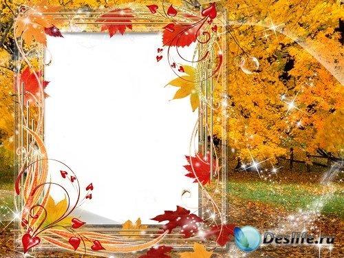 Рамка для фото –  Золотой осенний лес