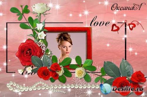 Романтическая рамка для фото с розами – И это всё о ней