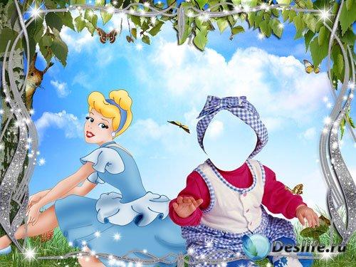 Детский костюм с принцессой на полянке
