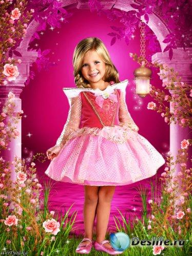Детский костюм - Маленькая  принцесса в стране чудесных роз
