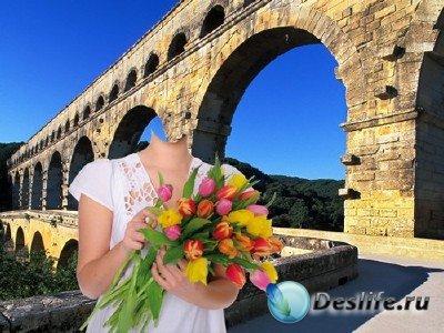 Костюм для монтажа в Photoshop - Возле моста